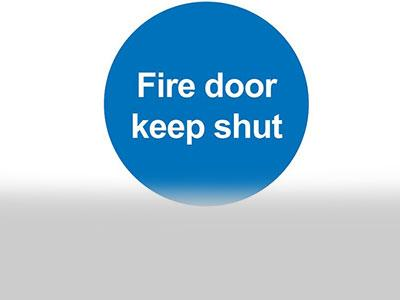 Fire door keep shut image