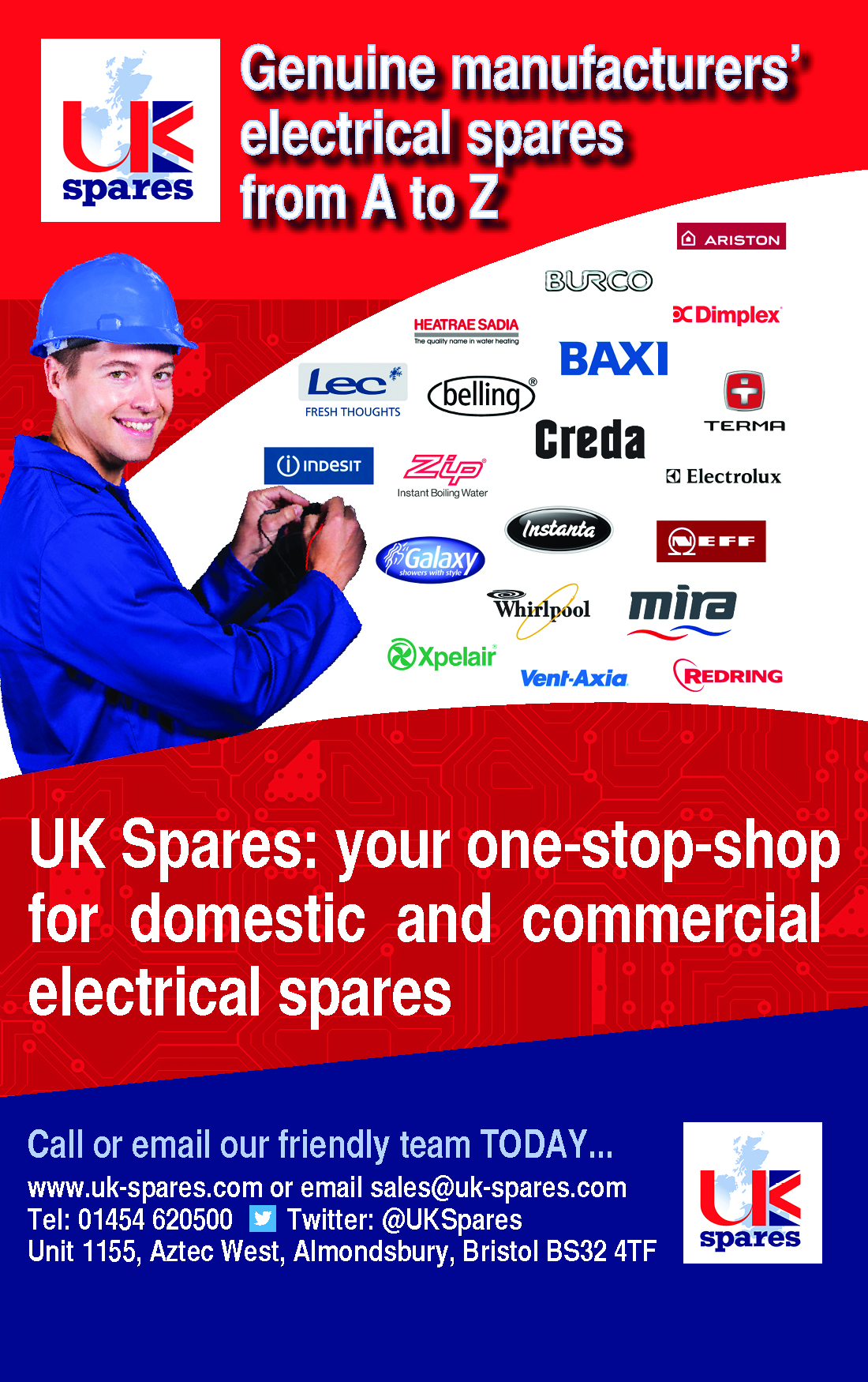 Genuine manufacturers electrical spares