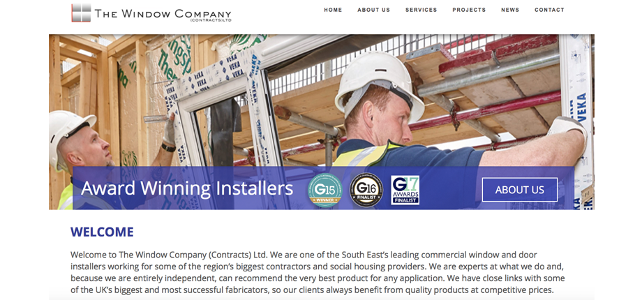 New website showcases The Window Company (Contracts) expertise