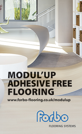Modul'up adhesive free flooring