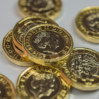 Tenant fees in pound coins