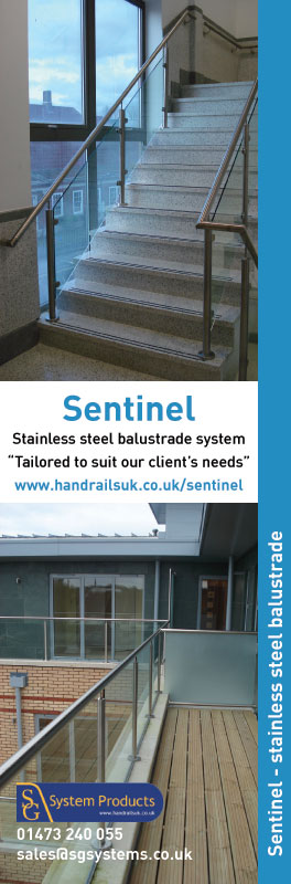 Sentinel stainless steel balustrade system