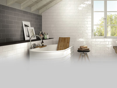 Ceramique Internationale New Brick Tiles Collection In Modern Bathroom