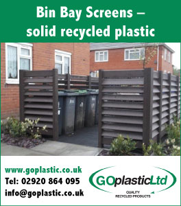 Bin Bay Screen - solid recycled plastic