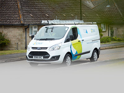 DW property repair services van
