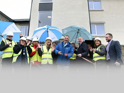 affordable housing in Cumbria being officially opened
