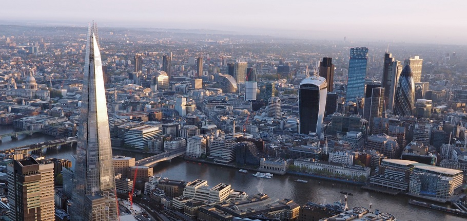 London from a hot air balloon - London has the biggest housing shortfall in the country
