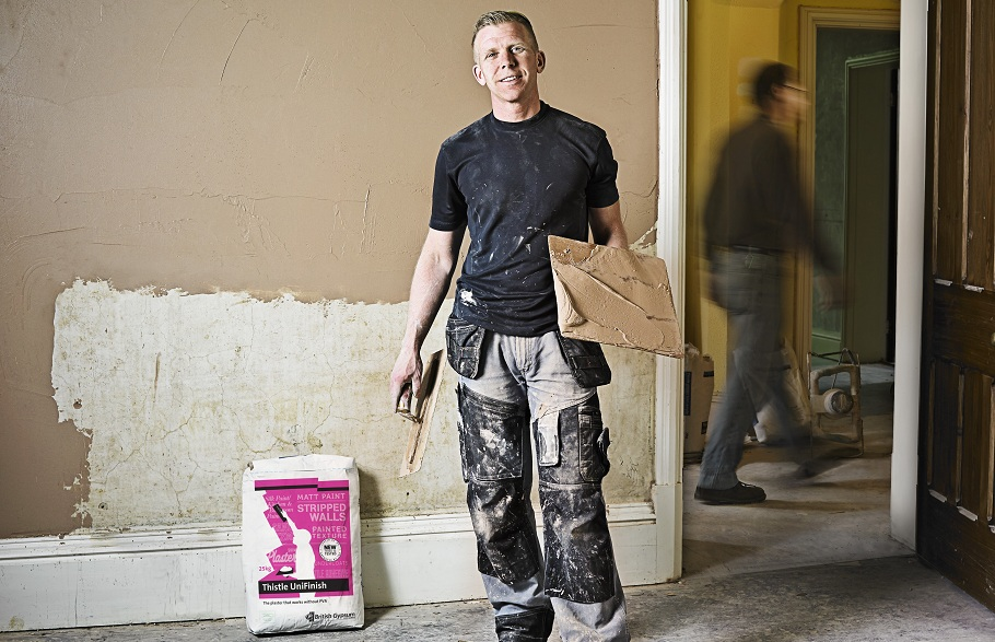 It's in the walls - Pete Plasterer using UniFinish