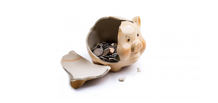 Right to buy costing councils a staggering £300 million per year image of broken piggy bank