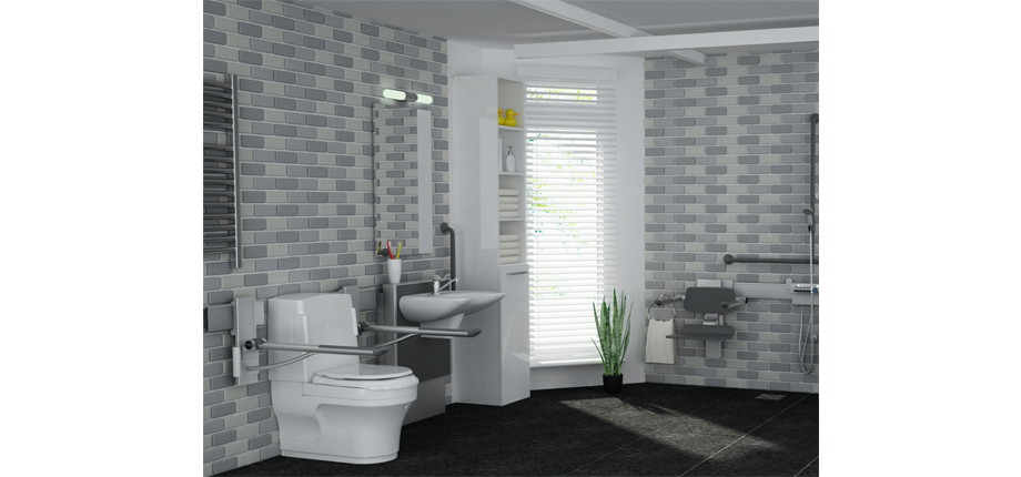 Closomat products in bathroom setting
