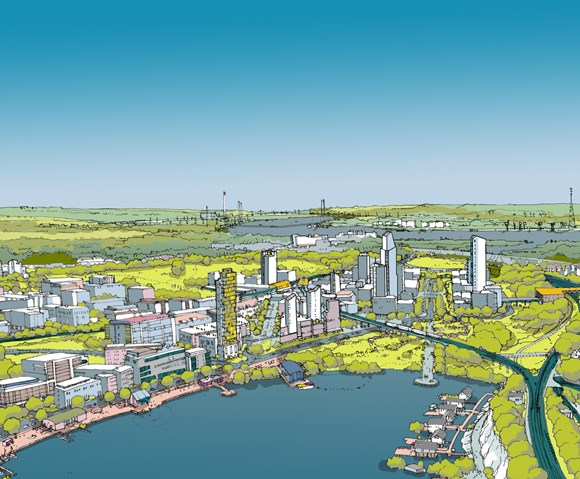 Ebbsfleet Garden City which will include new housing developments
