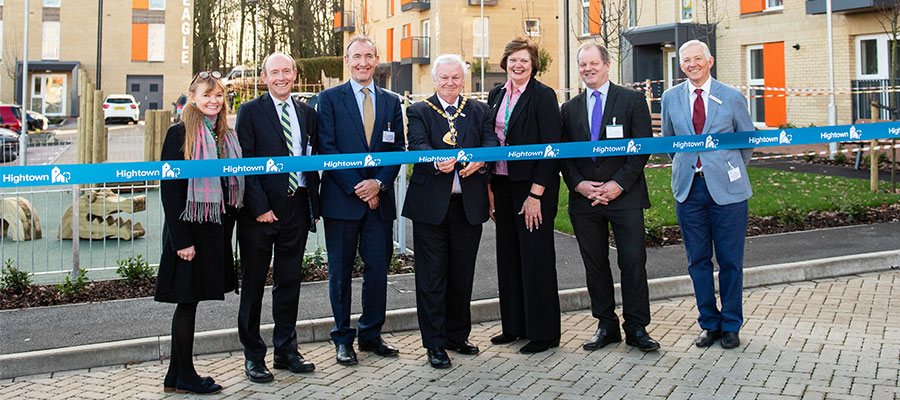 housing developments - Hemel Hempstead ribbon cutting