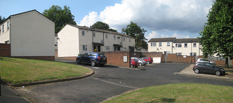 Brookhill Close - at the centre of a housing regeneration project