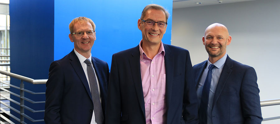 housing jobs - L- R Colin Mitchell, Finance Director; John Low, Chief Executive; Craig Smith, Operations Director, Robertson Residential Group.JPG