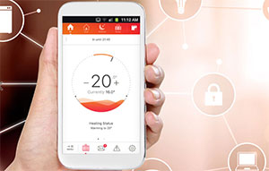The B-Snug smart hybrid home heating system app
