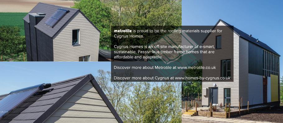 Metrotile roofing material supplier for Cygnus Homes