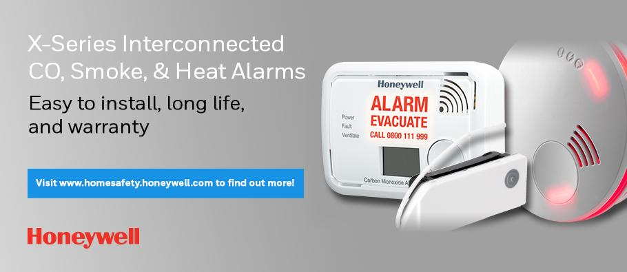 X-Series Interconnected CO, Smoke & Heat alarms