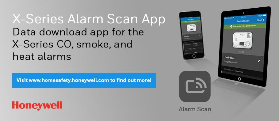 X-series alarm scan app