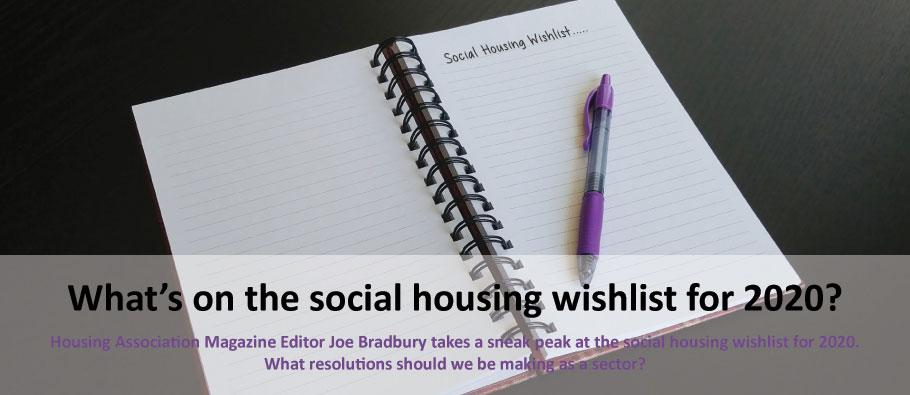 What's on the social housing wishlist 2020