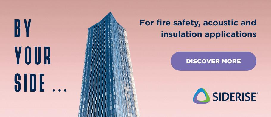 Siderise for fire safety, acoustic and insulation applications